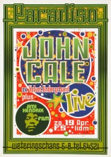 Paradiso-posters Martin Kaye, John Cale